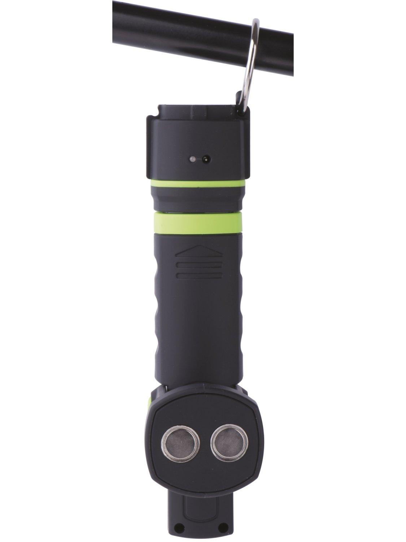 17602647c1f Акумулаторна лампа - фенер - 12 SMD LED + 6 L... Подвижна част Кука и  магнит на лампата ...