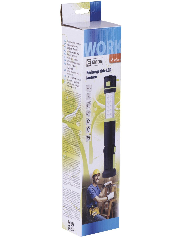 d55426d3678 Акумулаторна лампа - фенер - 12 SMD LED + 6 L... Подвижна част Кука и  магнит на лампата Кука Опаковка на лампата